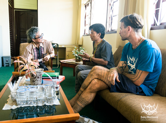 Meeting with head of the West Sumatran language centre to discuss the development of a Mentawai dictionary
