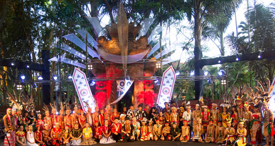 Yayasan Pendidikan Budaya Mentawai participated in the Indigenous Celebration Festival 2018 in Ubud, Bali