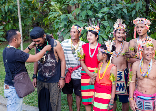 The Mentawai Cultural Education Foundation team is grateful for the cultural support from Pak Albar, Suku Suku Tatau, at the indigenous festival in Ubud, Bali
